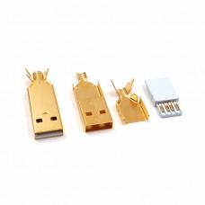 24K Gold plated USB-A plug