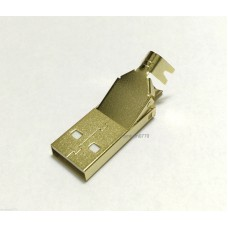 3μm Gold plated USB-A plug