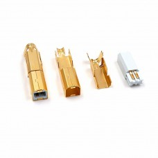24K Gold plated USB-B plug