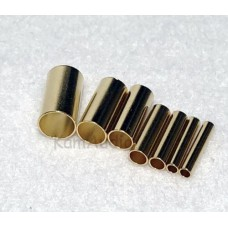 Pure Copper 24K Gold plated cable end crimp sleeve